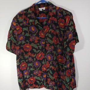 Talbots Women's Silk Floral Short Set Sz 18
